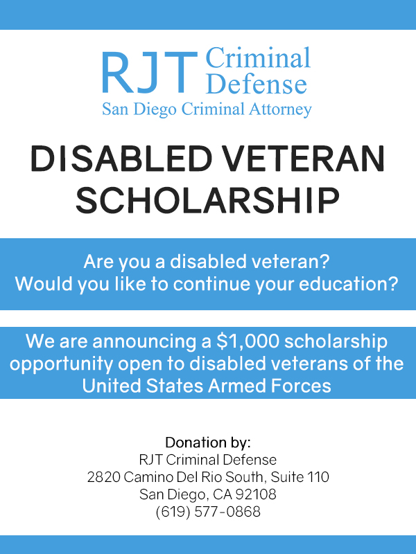 2017 Disabled Veteran Scholarship